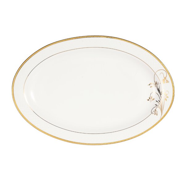 La Luna Rosalia 14 Bone China Serving Platter by Lorren Home Trends