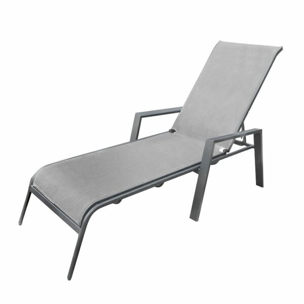 Inessa Sling Outdoor Reclining Chaise Lounge by Ivy Bronx