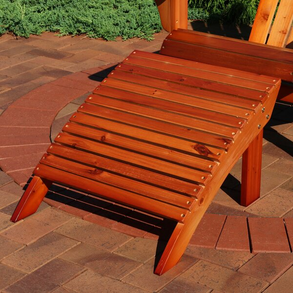 Pamela Wooden Adirondack Footrest Outdoor Ottoman by Millwood Pines