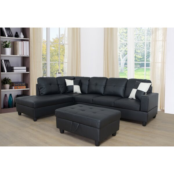 Borowski Sectional with Ottoman by Red Barrel Studio