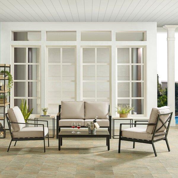 Timpano 4 Piece Deep Seating Group with Cushions