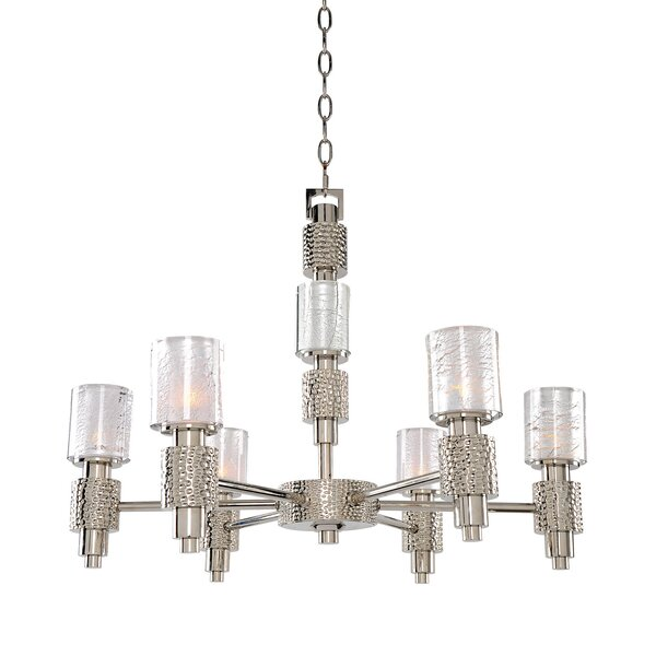 Ashington 6-Light Shaded Chandelier by Kalco