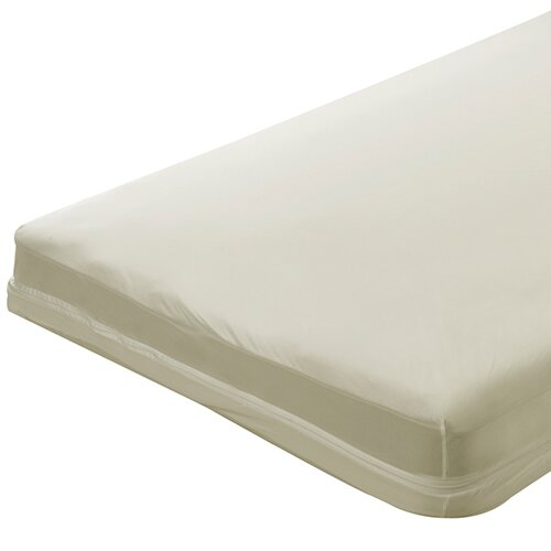 Zippered Natural Cotton Crib Mattress Cover by Bargoose Home Textiles