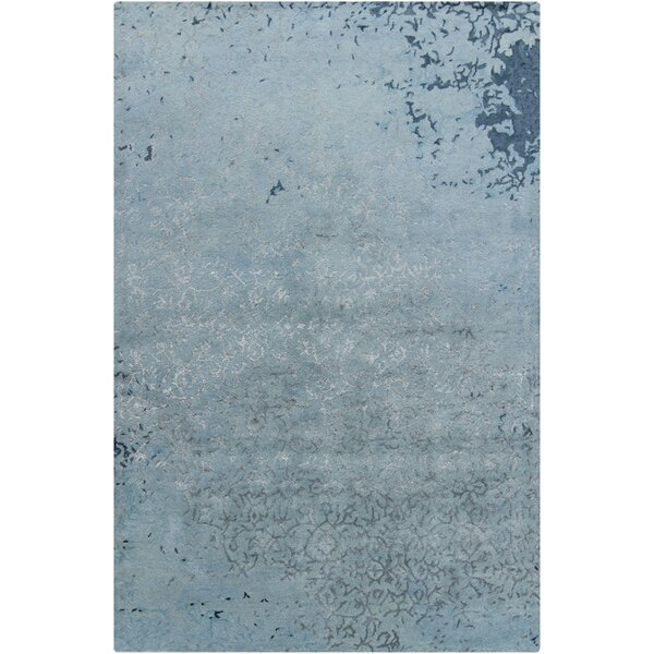 Powell Blue Abstract Area Rug by 17 Stories