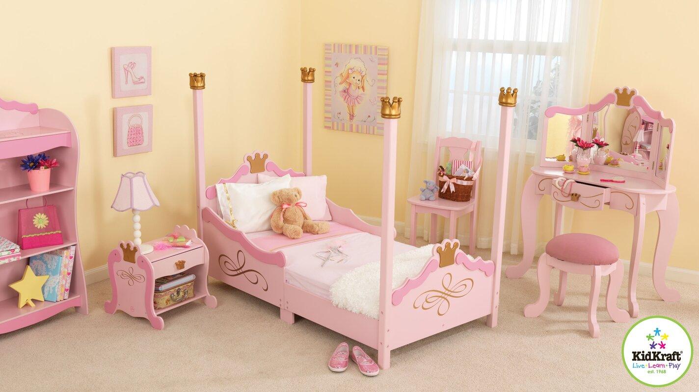 KidKraft Princess Toddler Four Poster Customizable Bedroom Set ...