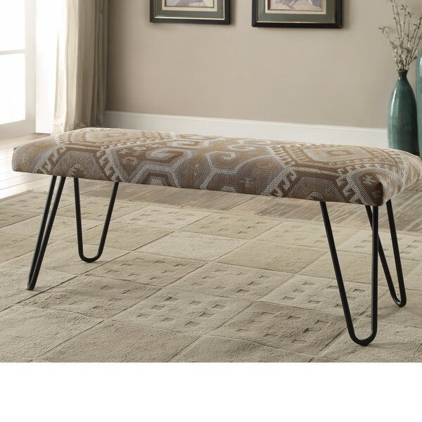 Passmore Rustically Enthralling Upholstered Bench by Union Rustic