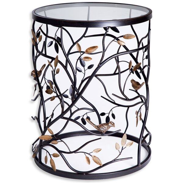 Bird Barrel Metal End Table By Home Essentials And Beyond