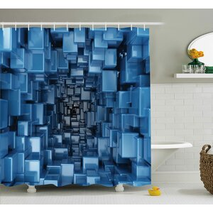 Harkness Digital Geometric Shower Curtain