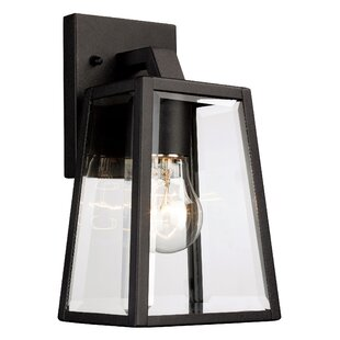 Modern outdoor wall lighting allmodern sowders 1 light outdoor wall lantern mozeypictures Images