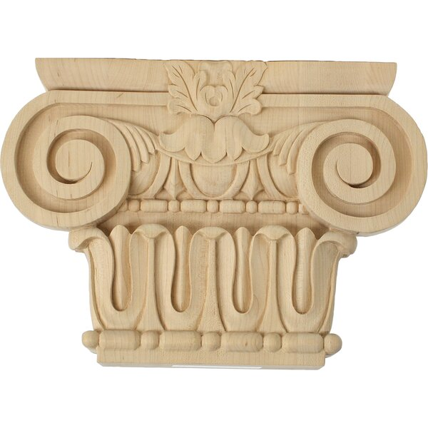 Bradford Roman Ionic 7 1/2H x 13/4W x 2 1/4D Medium Capital by Ekena Millwork