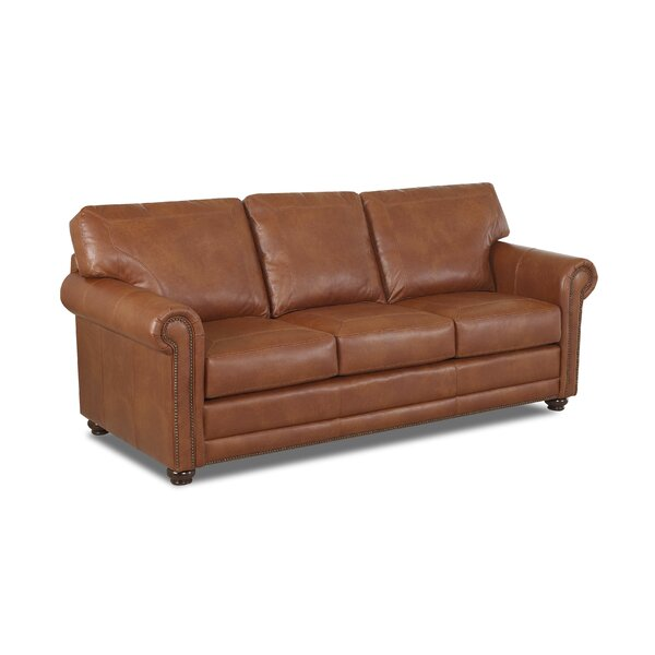 Jules Leather Sofa By Charlton Home