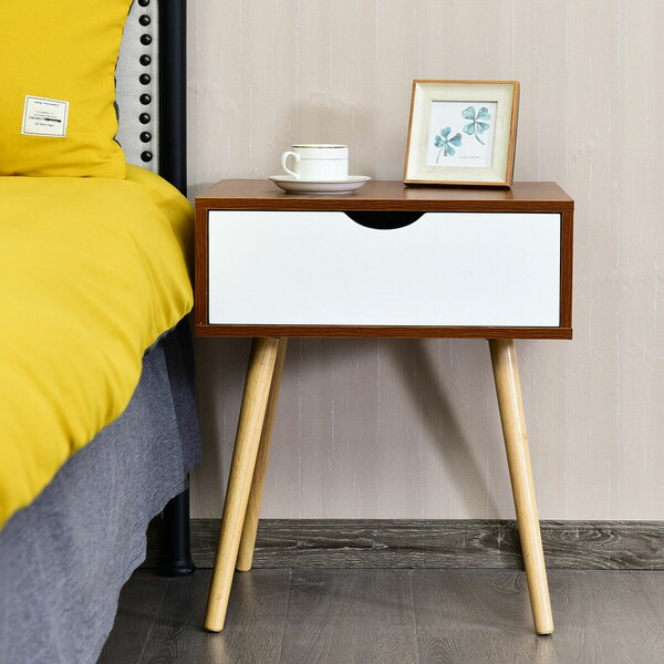 Maybery 1 Drawer Nightstand by Hashtag Home