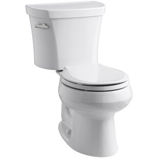 Compare & Buy Wellworth Two-Piece Round-Front 1.28 GPF Toilet with Class Five Flush Technology and Left-Hand Trip Lever ByKohler