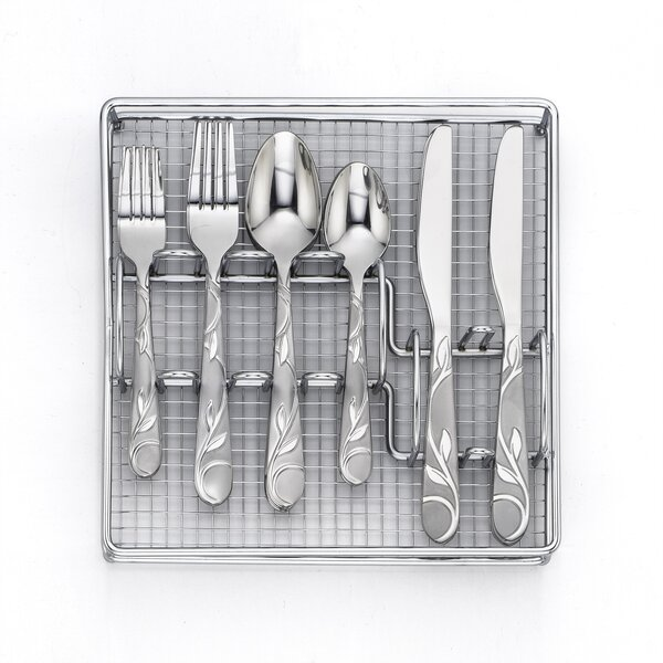 Zehira Frost 41 Piece Flatware Set by Cambridge Silversmiths