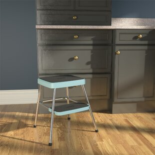 Peachy Retro 2 Steps Steel Step Stool With 225 Lb Load Capacity Bralicious Painted Fabric Chair Ideas Braliciousco