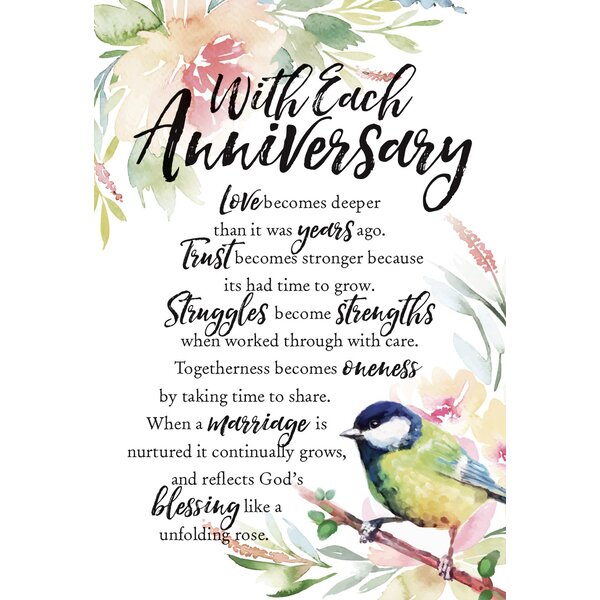 Woodland Grace With Each Anniversary Textual Art on Wood by Dexsa