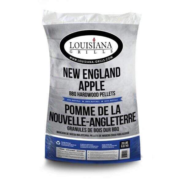 All Natural Hardwood Pellets - New England Apple by Louisiana Grills