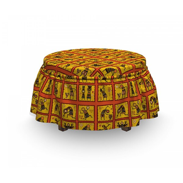 2 Piece Box Cushion Ottoman Slipcover Set By East Urban Home