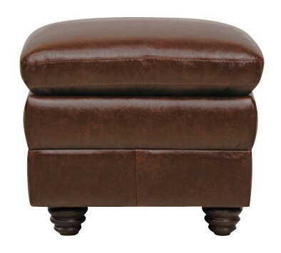 Mellor Leather Ottoman By Alcott Hill