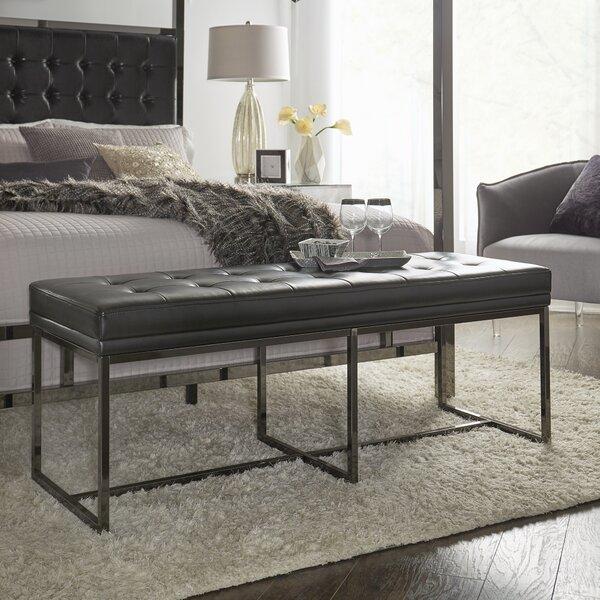 Fadrique Solid Tufted Top Metal Metal Bedroom Bench by Willa Arlo Interiors