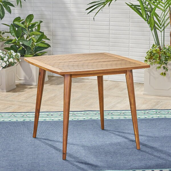 Adoxa Solid Wood Dining Table by Union Rustic