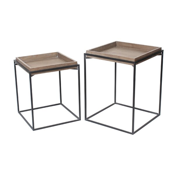 Merrifield Tray Top Frame Nesting Tables By Gracie Oaks