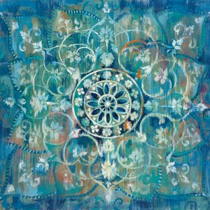 Mandala III Painting Print on Wrapped Canvas by Bungalow Rose