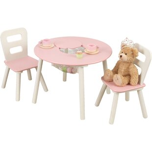 Kidu0027s 3 Piece Round Table and Chair Set  sc 1 st  Wayfair : frozen table and chairs set - pezcame.com