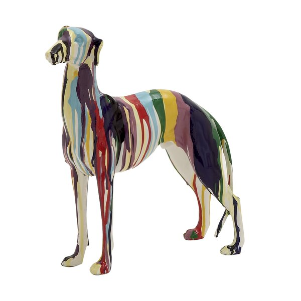 Abstract and Artistic Polystone Dog Statue by Mercer41