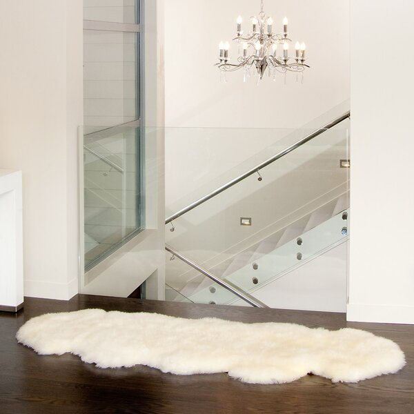 Colello Handmade Sheepskin Ivory Area Rug by Union Rustic