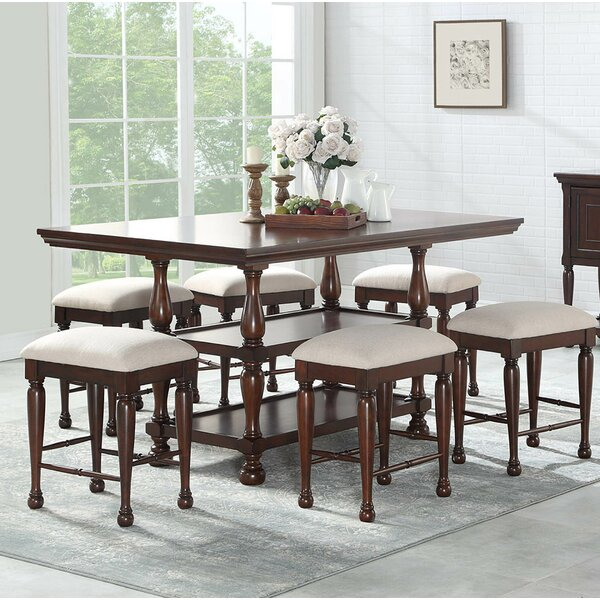 Harriett 7 Piece Pub Table Set by Canora Grey