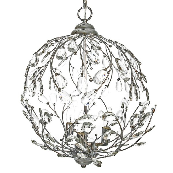 Orren Ellis Filsaime Garden Glam 3 Light Globe Chandelier Reviews
