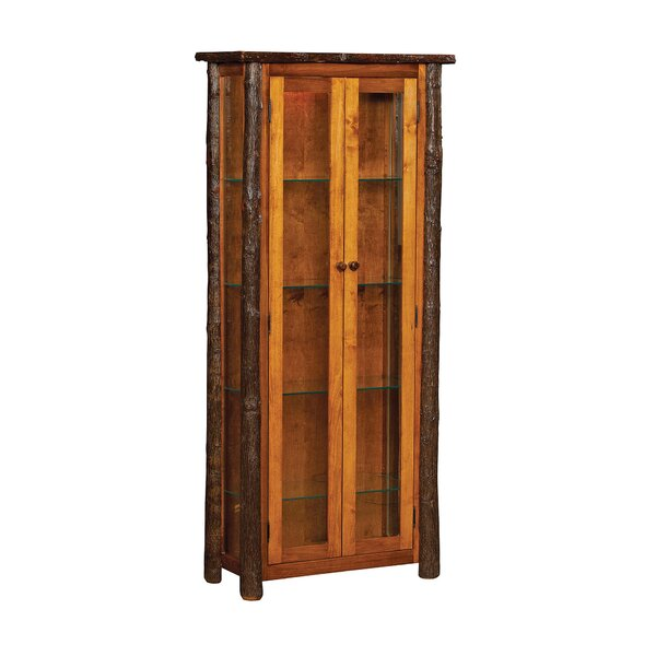 Queens Enclosed Lighted Curio Cabinet by Loon Peak
