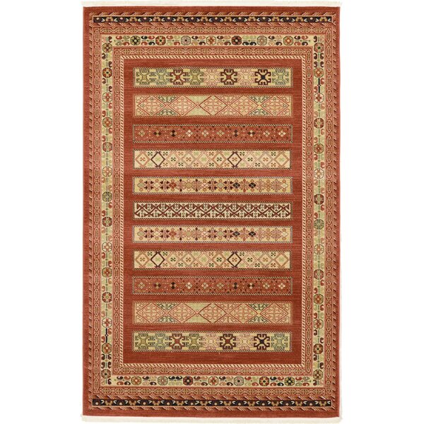 Foret Noire Rust Red Area Rug by World Menagerie
