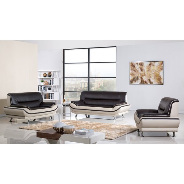 Zimmer 3 Piece Living Room Set by Orren Ellis