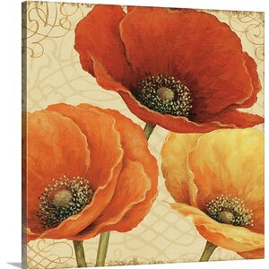 Poppy Spice I by Daphne Brissonnet Graphic Art on Wrapped Canvas by Great Big Canvas
