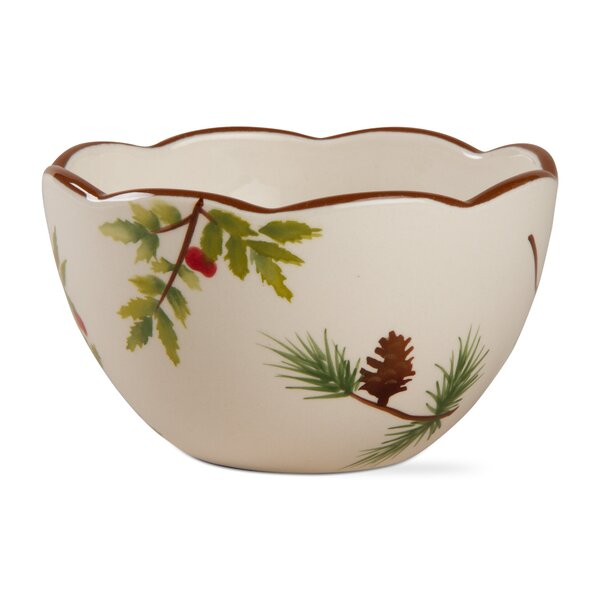 24 oz. Scalloped Greenery Bowl by TAG