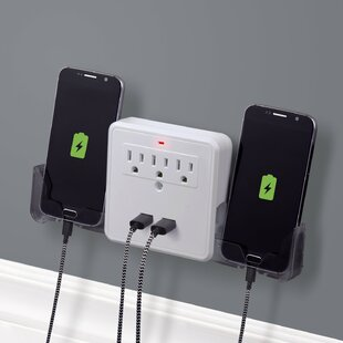 3 Outlet Charging Station Surge Protector Wall Tap