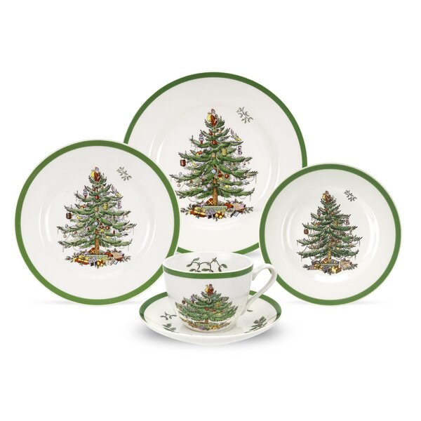 Christmas Tree 5 Piece Place Setting, Service for 1 by Spode