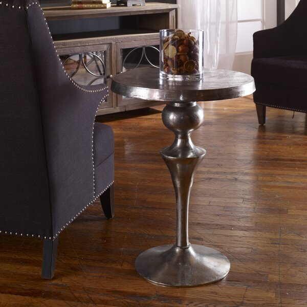 Darren Aluminum End Table by House of Hampton