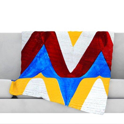 Zig Zag Throw Blanket by KESS InHouse