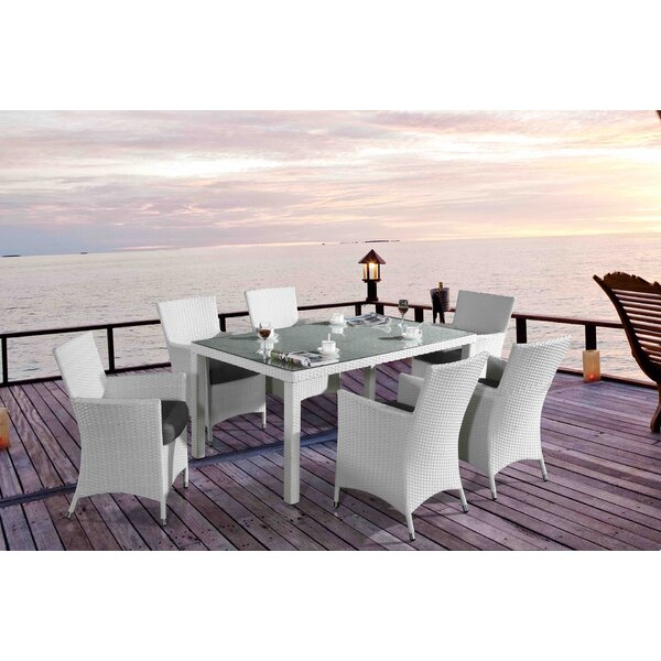 Chiasso 7 Piece Dining Set with Cushions by Velago