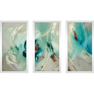 'Bella' Framed Acrylic Painting Print Multi-Piece Image on Glass by Latitude Run