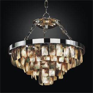 Lovely Mailbu 5 Light Crystal Chandelier