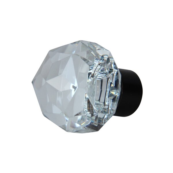Diamond Cut Clear Cabinet Crystal Knob by RCH Supply Company