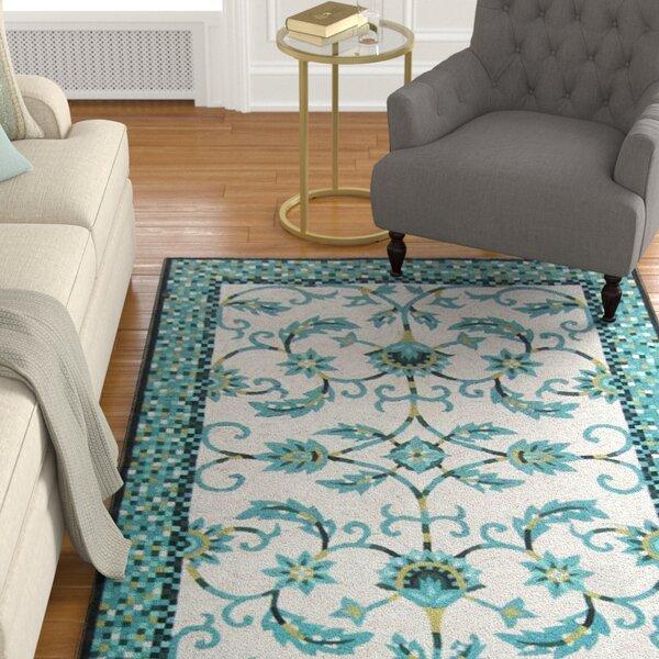 Verrett Handmade Blue Indoor/Outdoor Area Rug by Charlton Home