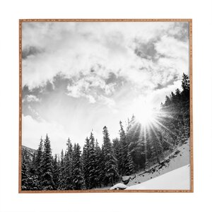 'White Mountain' Framed Photographic Print by East Urban Home