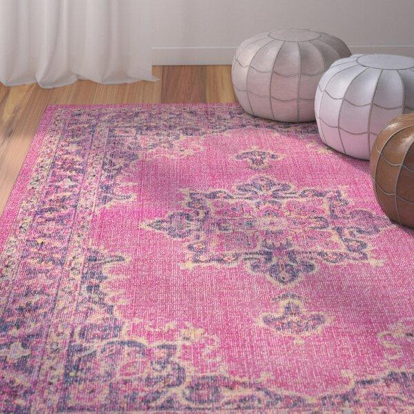 Randhir Pink Indoor Area Rug by Bungalow Rose