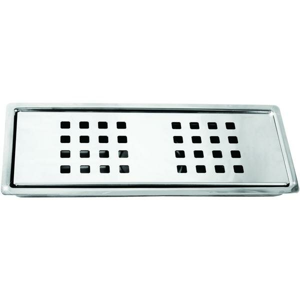 Stainless Steel Linear Floor Channel Grid Shower Drain by AGM Home Store
