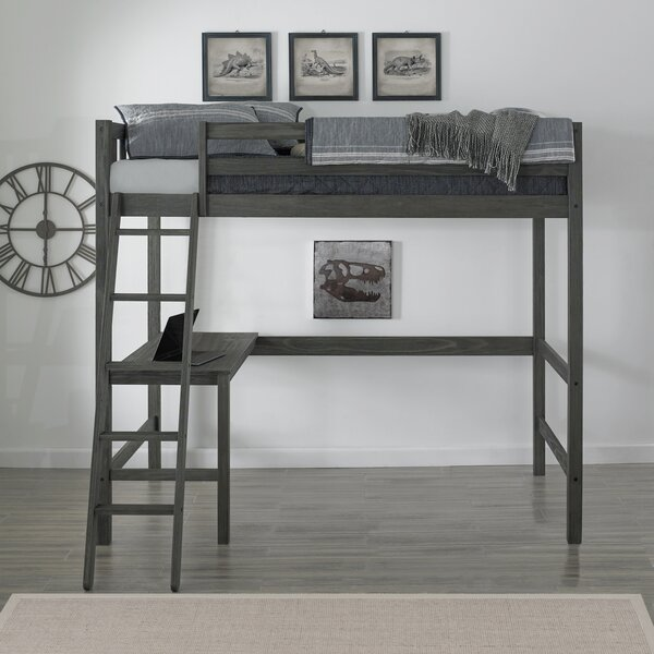 Pauletta Complete Twin Loft Bed with Desk by Harriet Bee